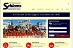 Website von Schloms Möbelspedition in Hannover